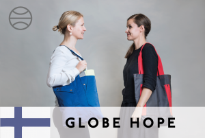 #24 Globe Hope – Raw materials upcycled into new items