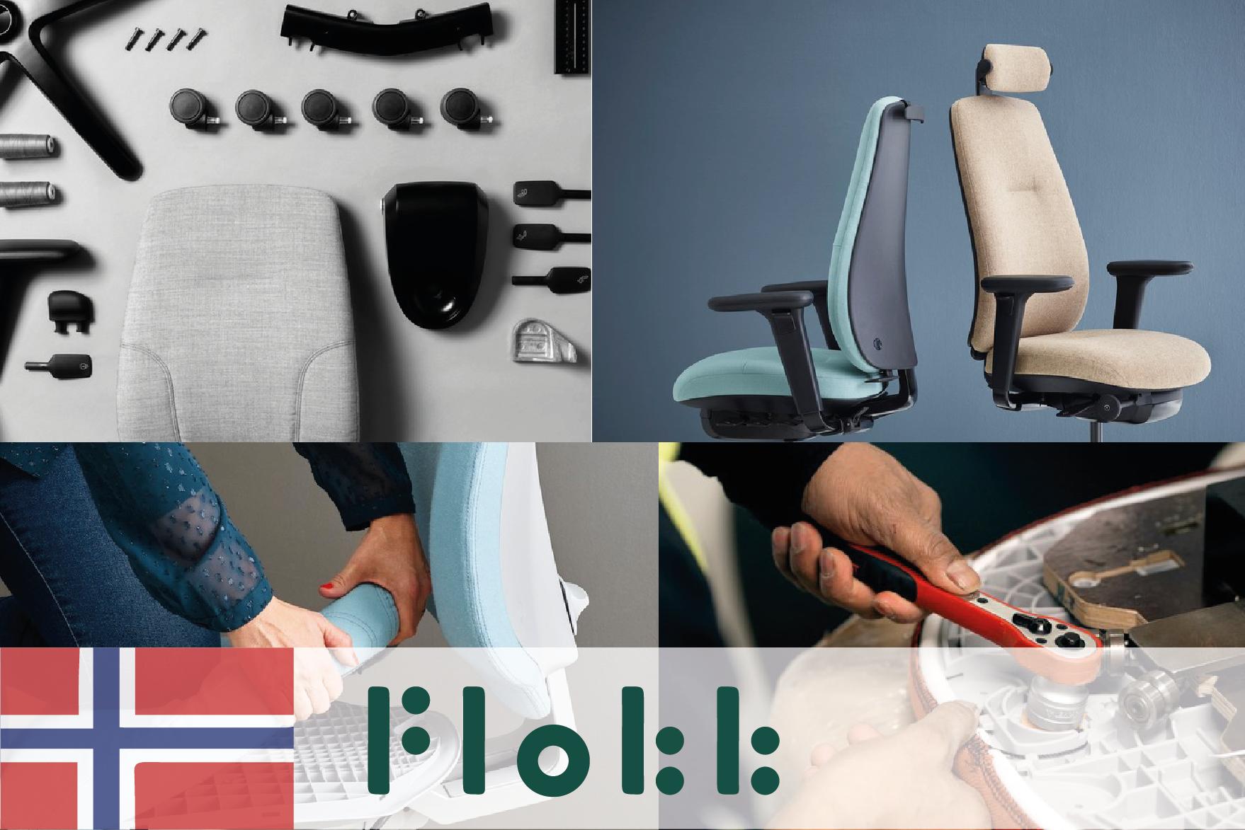 #44 Flokk - Ergonomically and environmentally friendly chairs - CIRCit Nord